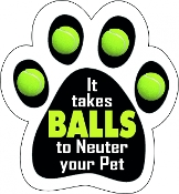It Takes Balls Paw Print Magnet