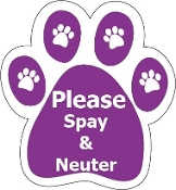 Paw Please Spay and Neuter Purple