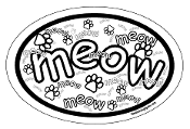 Crazy Meow Oval Magnet