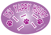It's Yappy Hour Oval Magnet