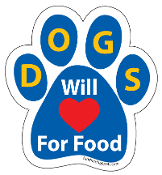 Dogs Will Love For Food Paw Print Magnet