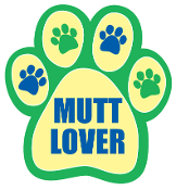 Mutt Lover Paw Print Magnet