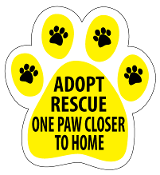 One Paw Closer to Home Paw Print Magnet