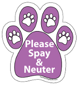 Please Spay and Neuter Purple Paw Magnet
