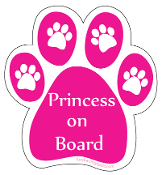 Princess On Board Paw Magnet