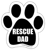 Rescue Dad Paw Print Magnet