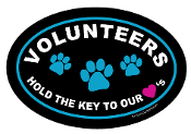 Volunteers Hold the Key to Our Hearts Oval Magnet