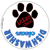 Licked Clean / Dishwasher Clean kitchen magnet *bargain bin*