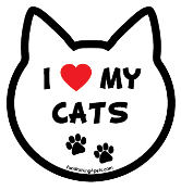 I Love My Cats cat head magnet - NEW!