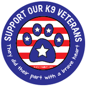 Support Our K9 Veterans circle magnet - NEW!