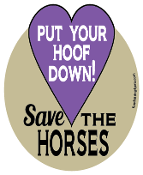 Put Your Hoof Down Save The Horses hoof magnet - purple *NEW*
