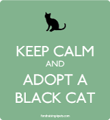 Keep Calm and Adopt a Black Cat magnet - mint * NEW!