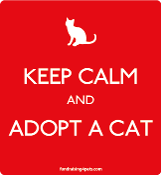Keep Calm and Adopt a Cat magnet - red * NEW!