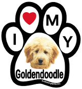I Love My Goldendoodle Paw Print Magnet - NEW!