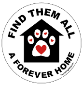 Find Them All A Forever Home circle (house/paw) *bargain bin*