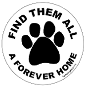 Find Them All A Forever Home circle magnet (paw) - NEW!