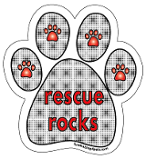 Rescue Rocks paw magnet - dot grid *NEW*