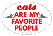 Cats Are My Favorite People oval magnet - NEW!