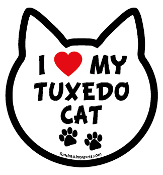 I Love My Tuxedo Cat cat head magnet - NEW!