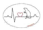 Heartbeat oval magnet - Rat *NEW*