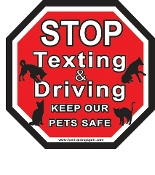 Stop Texting & Driving Stop Sign Magnet
