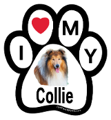 I Love My Collie Paw Print Magnet - NEW!