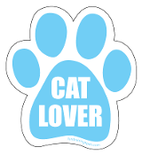 Cat Lover Paw Print Magnet - Blue