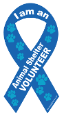 I am an Animal Shelter Volunteer Ribbon Magnet