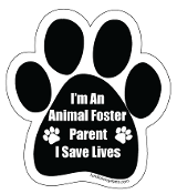I'm an Animal Foster Parent Paw Print Magnet