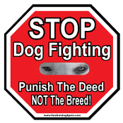 Stop Dog Fighting Stop Sign Magnet