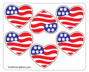 Mini Paw Flag Heart Magnets - 6pk