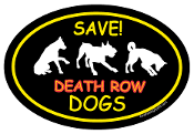 Save Death Row Dogs Oval Magnet