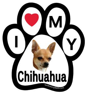 I Love My Chihuahua Paw Print Magnet - NEW!