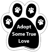 Adopt Some True Love Paw Print Magnet