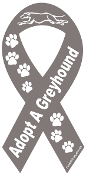 Adopt a Greyhound Ribbon Magnet