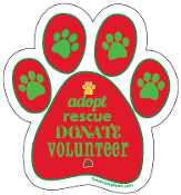 Christmas Tree Adopt/Rescue/Donate/Volunteer Paw Magnet - NEW!