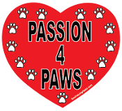 Passion 4 Paws Heart Magnet - Red *NEW*