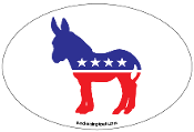 Democrat Donkey Oval Magnet - NEW!