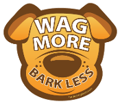 Wag More Bark Less Dog Head Magnet