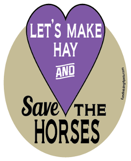Let's Make Hay And Save The Horses hoof magnet - purple *NEW*