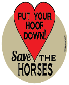 Put Your Hoof Down Save The Horses hoof magnet - red *NEW*