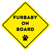Furbaby On Board magnet - NEW!
