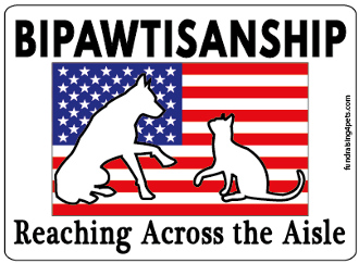 Bipawtisanship, Reaching Across the Aisle- flag background *NEW*