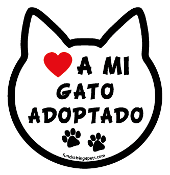 ♥ A Mi Gato Adoptado cat head magnet - NEW!