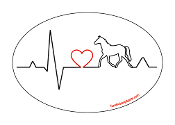 Heartbeat oval magnet - Horse *NEW*