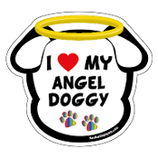 I Love My Angel Doggy dog head magnet - NEW!