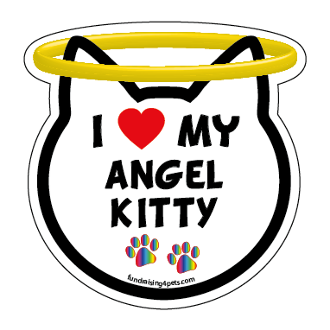 I Love My Angel Kitty cat head magnet - NEW!