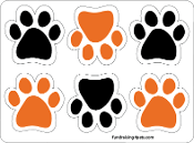 Mini Paw Magnets 6pk - Orange & Black *NEW*