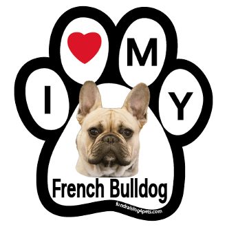 I Love My French Bulldog (fawn) Paw Magnet - NEW!