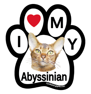 I Love My Abyssinian Paw Magnet - NEW!